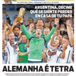 Los diarios en Brasil se desquitan con Argentina