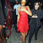 Rihanna y su vestido transparente