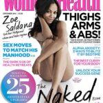Zoe Saldana se quita todo para Womens Health