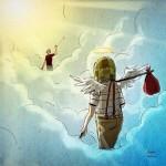 Con dibujos despiden a Chespirito en redes sociales