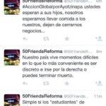 Pizzas 50 Friends habla mal de los normalistas de Ayotzinapa
