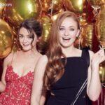 Sophie Turner y Maisie Williams en la alfombra roja de los SAG Awards