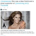 Lance Armstrong lamenta muerte de Lorena Rojas