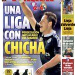 Una vez mas Chicharito es portada en diarios españoles