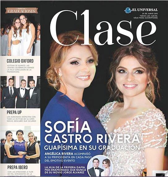 963f6ae60 Angelica Rivera y Sofia Castro en HOLA y Clase - Musica Cine y ...