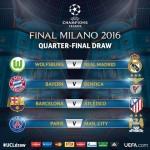 Asi quedaron los cuartos de final de la Champions League