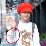 Miley Cyrus probandose ropa