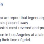 Ha muerto Leonard Cohen