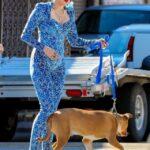 Miley Cyrus en body pegadito en set de filmacion