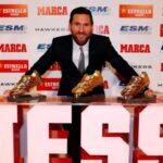 Entregaron a Messi su quinta bota de oro
