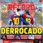 Los periodicos del Adios de Messi