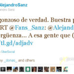 Alejandro Sanz se enoja en twitter