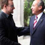 Bono se reunio con el presidente de México