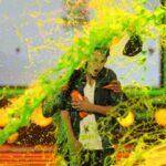 Justin Beiber y Halley Berry bañados en Slime
