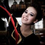 Danna Paola como gimnasta