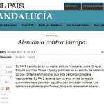 Diario El País retira articulo que comparaba a Angela Merkel con Hitler