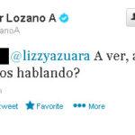 Javier Lozano pide despedir a alguien por mensaje en twitter