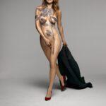 Lake Bell en body paint para New York Magazine