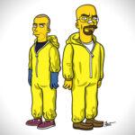 Personajes de Breaking Bad al estilo Simpson