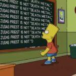 Los Simpsons se disculpa con Judas Priest