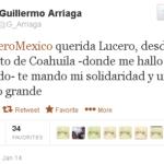 El guionista Guillermo Arriaga apoya a Lucero y a la caza