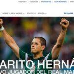 Fotos de la presentacion de Chicharito en el Real Madrid