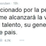 Esto tuiteo el actor Ruben Aguirre sobre Chespirito