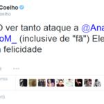 Paulo Coelho defiende a Anahi en twitter