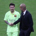 El reencuentro entre Lio Messi y Pep Guardiola