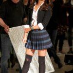 Megan Fox como colegiala en el set de las Tortugas Ninja 2
