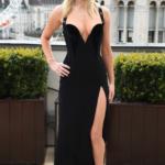 Jennifer Lawrence con vestido negro