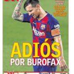 Las portadas del Adios de Messi