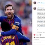El mensaje de Pele para Messi tras igualar su record