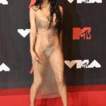 Megan Fox en la alfombra roja de los MTV VMA 2021